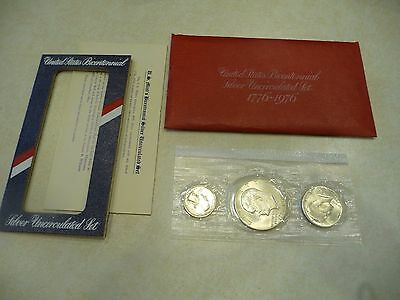 1976 US Mint Bicentennial Silver Uncirculated Set with Original Red Envelope