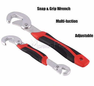 2Pc Adjustable Multi-function Quick Snap'N Grip Wrench Universal Wrench Tool Set