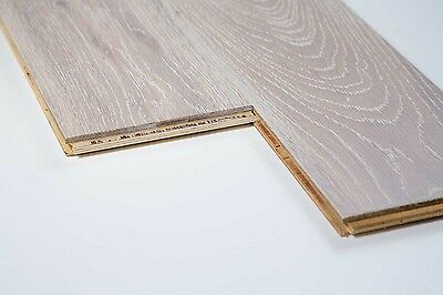 Trade Choice Engineered White 18/4mm x 150mm Brushed Lacquered Wood Flooring