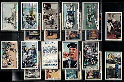 """Gallaher 1937 Interesting ( Nautical ) Full 48 Card Set """"""""  The Navy  """""""""""