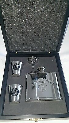 Jack Daniel's Old No. 7 Brand Stainless Steel Whiskey Hip Flask Container Set