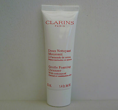 1x CLARINS Gentle Foaming Cleanser With Cottonseed, 50ml, Brand New!!