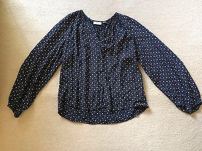 Country Road Blue And Cream Long Sleeve Top Size XXS