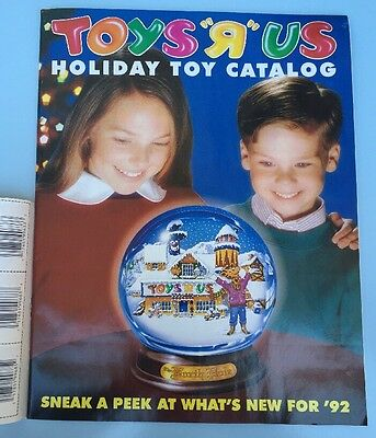"1992 Toys ""R"" Us Holiday toy catalog 63 pages w/10 pages of coupons Game Intact"