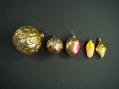 Vintage Old RARE Russian Christmas  Glass Tree  Ornaments Nice Decoration N 148