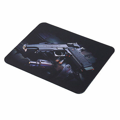 Gun Picture Anti-Slip Laptop PC Mice Pad Mat Mousepad For Optical VO