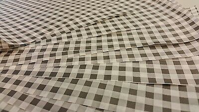Gingham Greaseproof Paper Check BLACK