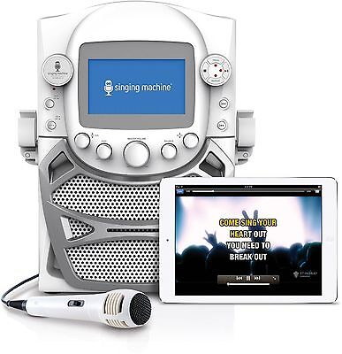 Singing Machine CD+G Karaoke Bluetooth System With Built-In 5 Color TFT Monitor