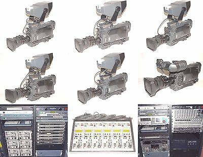 6 Sony D50Ws D35Ws Triax Multi Camera Mobile Tv Production Studio System Flypack