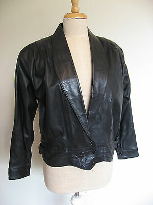 80s Womens Leather Jacket Size 10-12