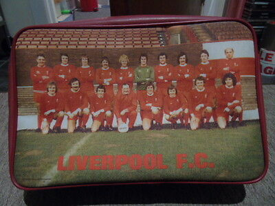 Liverpool Football Club Rare Vintage Team Photo Kit Shoulder Bag Umbro 1970s