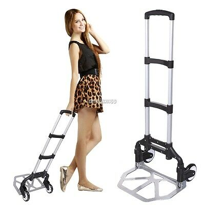 Portable Folding Hand Truck Dolly Luggage Carts Handling/Travel/Shopping Easy ~