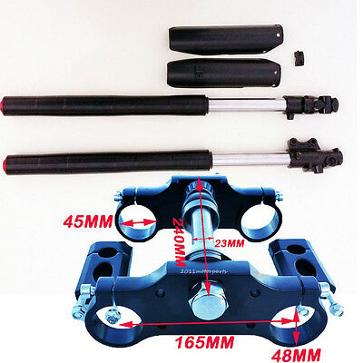 Upside Down Front Fork and Triple Tree for 50cc 90 110cc 125 140cc Dirt Bike sa