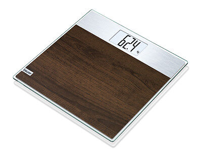 Beurer GS21 Digital Faux Wood Glass Scale - Brown