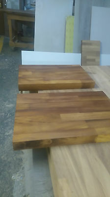 Large solid wood chopping boards (Iroko wood)
