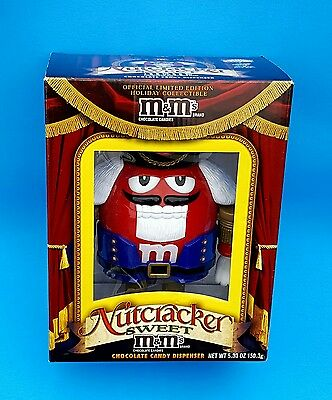 Red M & M Nutcracker Candy Dispenser Limited Edition M&M Ballet Christmas in box