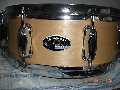 Slingerland Natural  Maple Snare Drum 5 x13 Zoomatic throw 90s Era XLNT Cond!