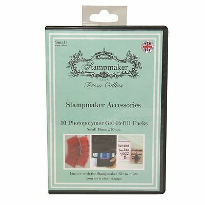 Stampmaker 10 Gel Refill Packs Small Embossing Supplies  45 x 60 mm