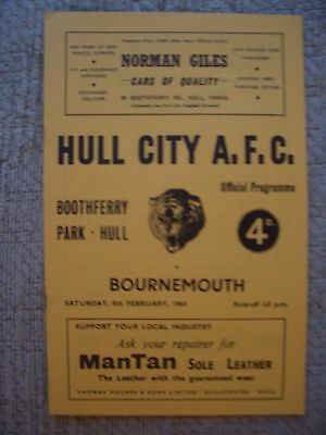 1964...HULL CITY v BOURNEMOUTH.....Division 3......Football Programme