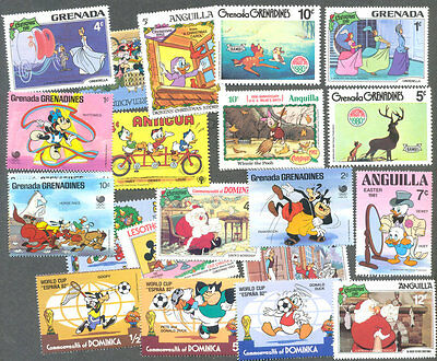 Disney on stamps 200 all  different collection-