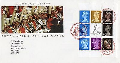1990 London Life Mint Prestige Booklet Pane Fdc From Collection B5