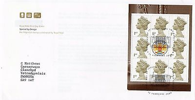 2000 Her Majesty's Stamps Prestige Booklet Pane Fdc From Collection B7