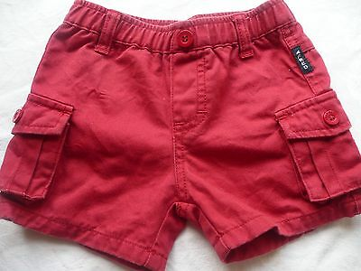 Fred Bare red cotton shorts baby boy Size 0 - EUC