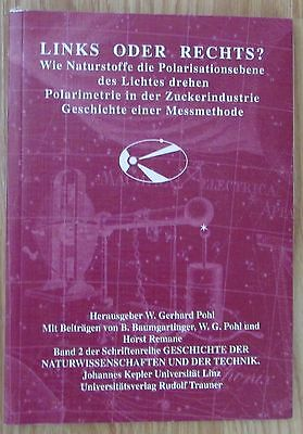 LINKS ODER RECHTS Polarimetrie Zuckerindustrie Messmethode * Gerhard Pohl 2005