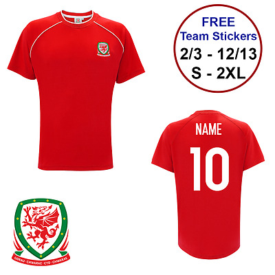 Wales FC football Official Tshirt PERSONALISED NAME NUMBER Adults birthday gift