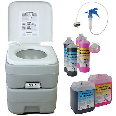 Portable camping toilet FRESH DELUXE Caravan Mobile Home Chemical WC Flushing