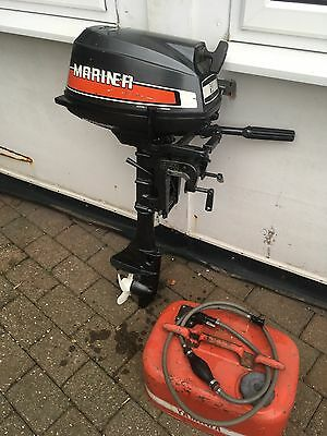 Mariner  5HP Two Stroke Outboard Motor Standard Shaft Air cooled Excellent Condi