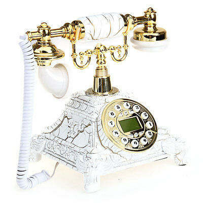 Retro Antique Vintages Table Telephone Phone Handsfree Classic Style Home New