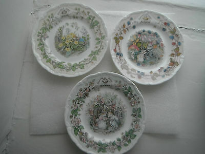 Royal Doulton Trio = Brambly Hedge Plates
