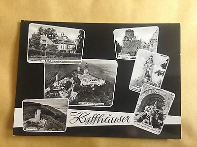 Germany Ddr Kyffhauser Multiple Views Real Photo Postcard