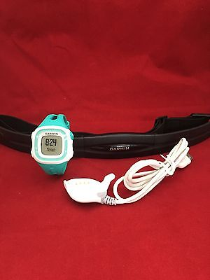 New Genuine Garmin Forerunner 15 Watch and Heart Rate Monitor - Teal/White