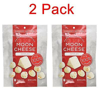 NEW Moon Cheese 6RE9zk1 Crunchy Pepper Jack Snack 2PK Gluten-Free 100% Natural