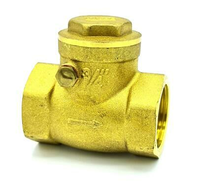 Swing Clack Non-Return Check Valve Brass One-Way Valves Variuos Sizes