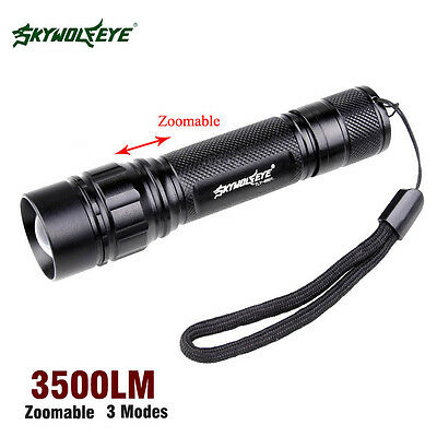 3 Modes Mini Torch Light Q5 LED Zoom Military Grade Tactical Flashlight Torch BG