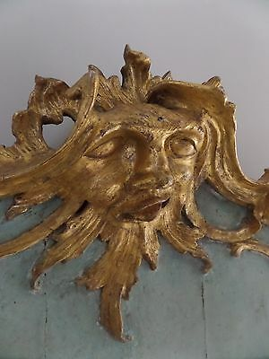 Antique 18th Century Carved French Gilt Overmantel Mirror Chippendale Rococo