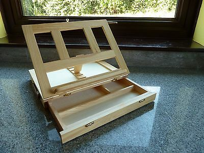 Wooden Table Top Folding Artist's Easel With Drawer - New.