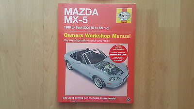 Haynes Workshop Manual  Mazda Mx-5  1989 To 2005 New And Sealed