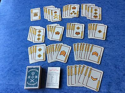 Vintage 1940's WWII MILITAIRE Card Game. Complete 54 Cards + Rules. Original Box