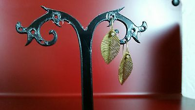 boucles d'oreille or jaune 18k et diamants