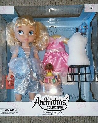 Limted edition Rare Disney Animator's Collection Doll Cinderella deluxe gift set