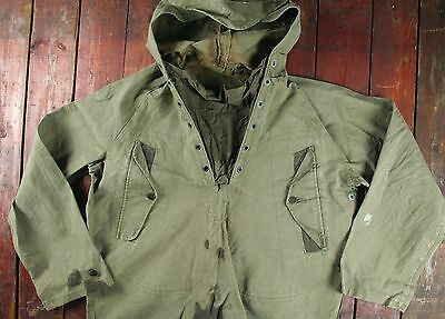 WW2 WWII 40s USN FOUL WEATHER SMOCK CAGOULE DECK JACKET NAVY DEPARTMENT MEDIUM