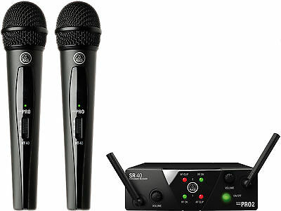 AKG WMS40 MINI2 Dual (Two) Handheld Vocal Microphone Wireless System