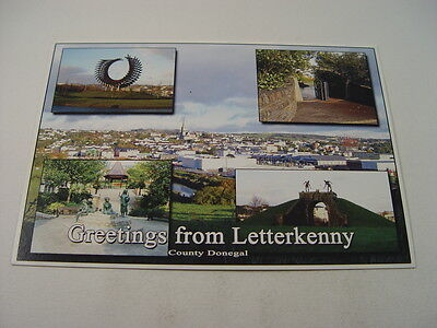 OZ912 - Multi-View Postcard - Greetings from Letterkenny, Donegal