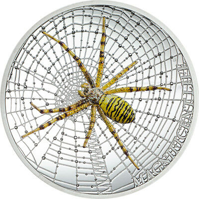 CIT 2016 Magnificent Life – Wasp Spider 1oz Proof Silver Coin