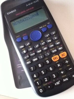 Casio fx-82 AU PLUS calculator with protective cover case - like new condition