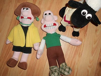 Wallace and Gromit old teddy plush Wendy sheep